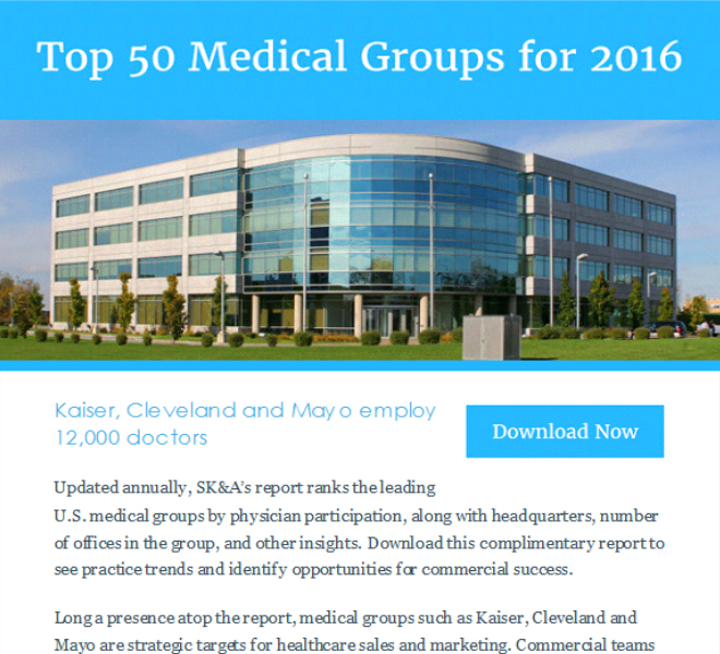 Top 50 Medical Groups for 2016