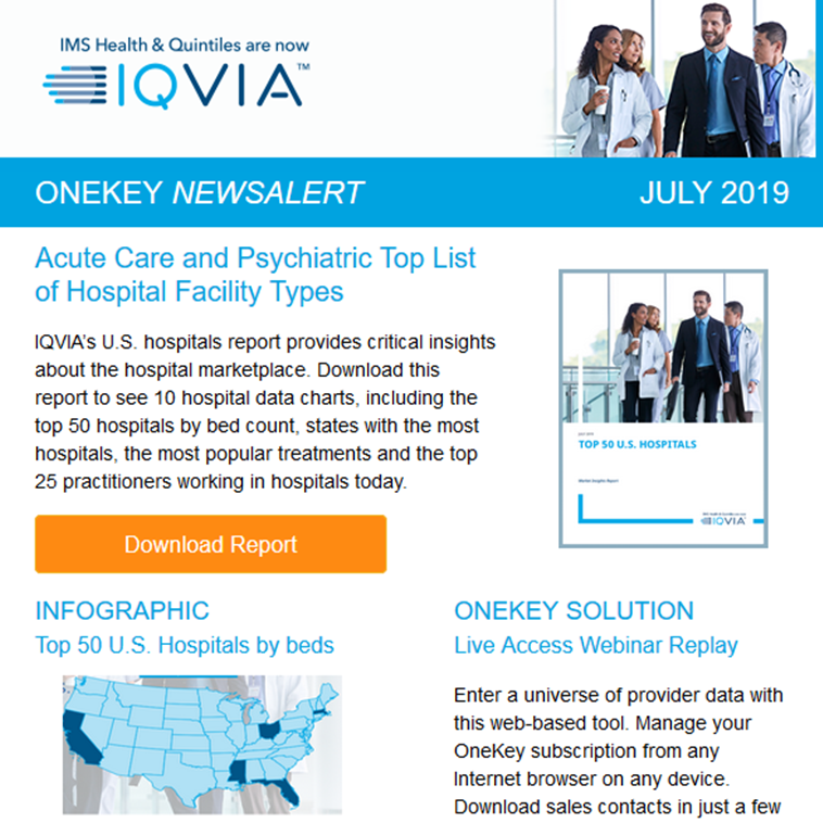 2019 Hospital Facts from OneKey | Live Access Webinar Replay | Infographic